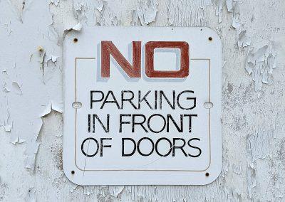 No Parking In Front of Doors